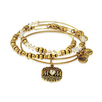 Alex and Ani Mom Set of Three Bangle Bracelets