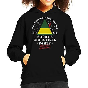 Elf Buddys Christmas Party Kid's Hooded Sweatshirt