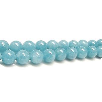 Strand 80+ Blue Sponge Quartz 4mm Plain Round Beads GS2666-1