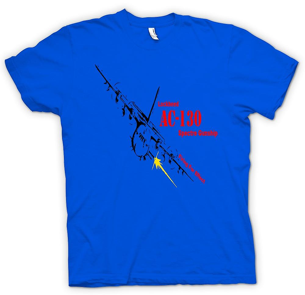 Mens t-shirt-Lockheed Ac0 Spectre Gunship