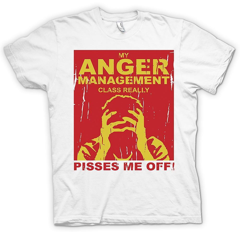 Mens T-shirt-ma classe de gestion de colère vraiment Me fait chier