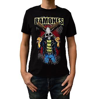 Amplified Ramones Gabba Gabba Black Crew Neck T-Shirt XXL