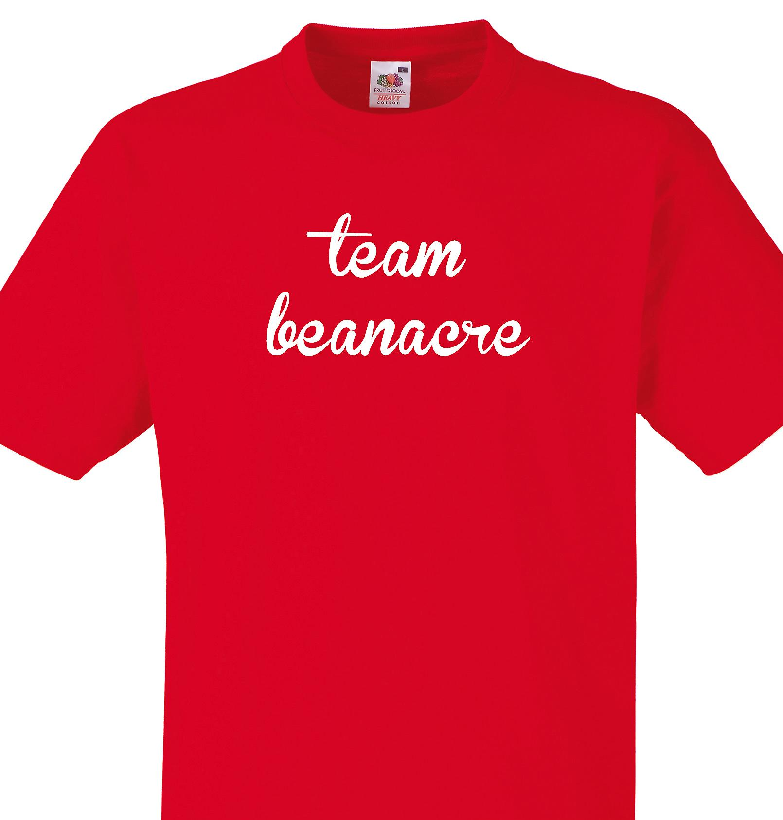 Team Beanacre Red T shirt