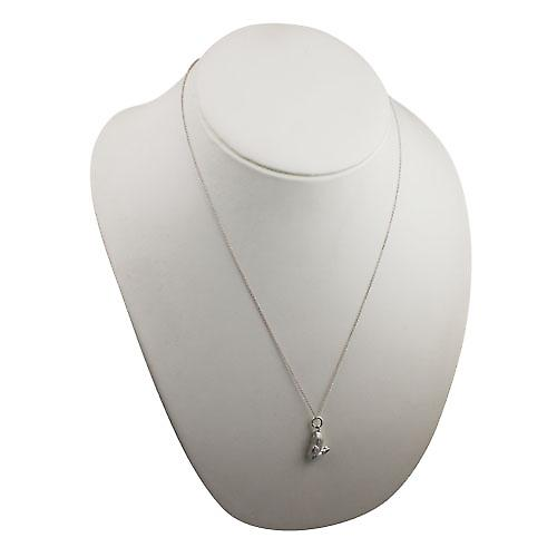Silver 18x10mm solid Rabbit Pendant with a rolo Chain 22 inches