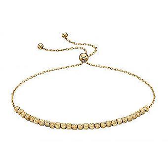 Elements Gold Diamond Cut Beads Adjustable Bracelet - Gold