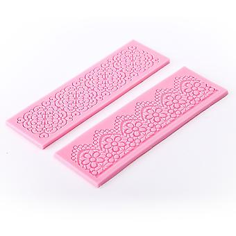 Lace 2pcs Silicone Mold Mould Sugar Craft Cake Fondant Cake Decorating Baking Tool #581