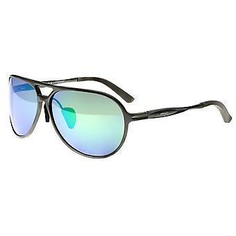 Breed Earhart Aluminium Polarized Sunglasses - Gunmetal/Blue-Green