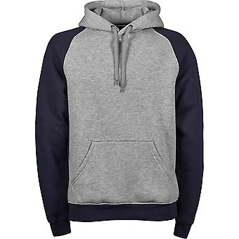 Tee Jays Mens Two Tone Raglan Hooded Sweatshirt