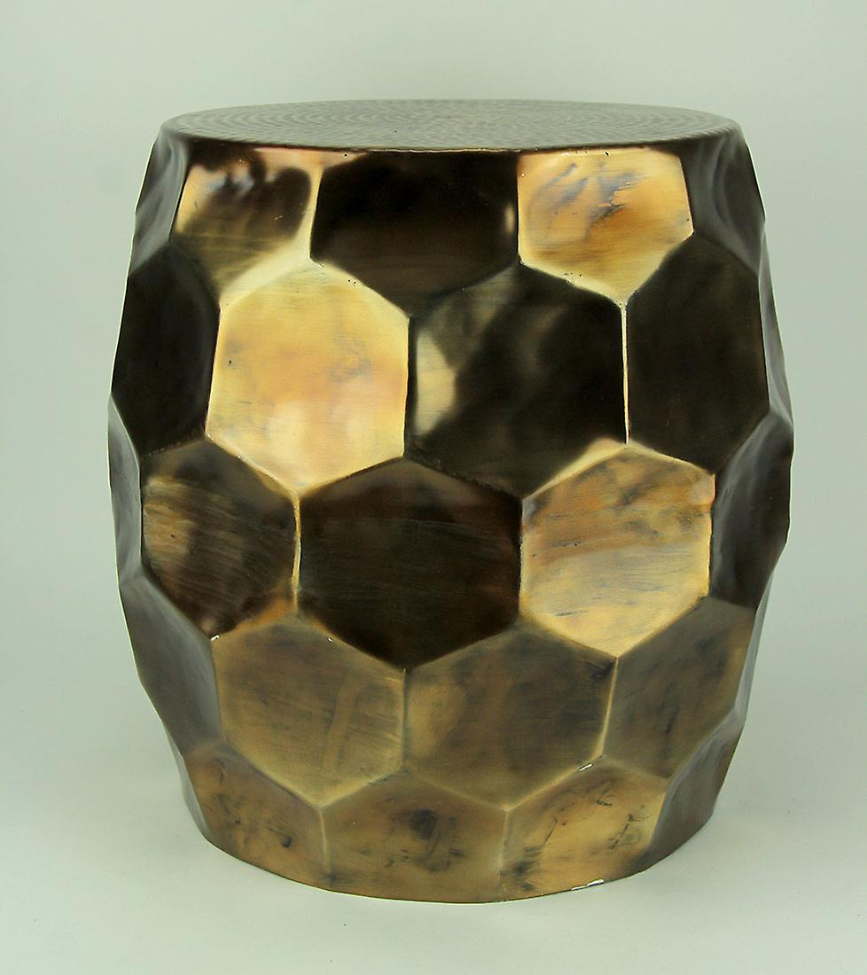 Aluminum Gold Accent Stool Table Indoor Vintage outdoor Or Faceted QtCsrdh