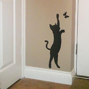 CAT WALL ART STICKER