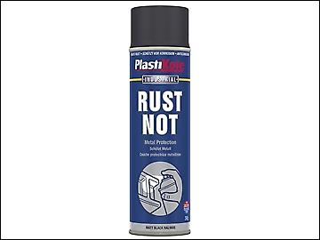 Plasti-kote Rust Not Spray Matt Black 500ml