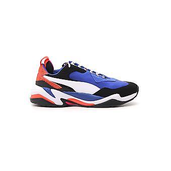 PUMA weiß/lila synthetische Fasern Sneakers