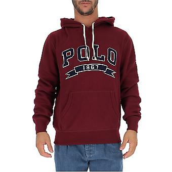 Ralph Lauren Burgundy Cotton Sweatshirt