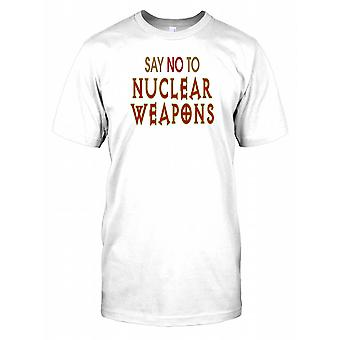 Say No to Nuclear Weapons - Conspiracy Kids T Shirt