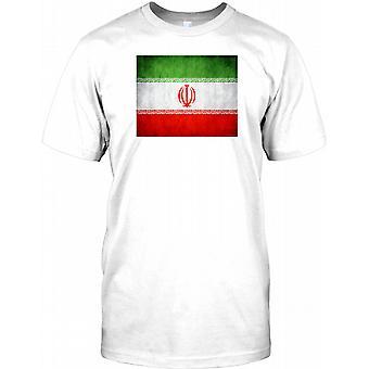 Iran Grunge Effekt Flag - iranische Kinder T Shirt