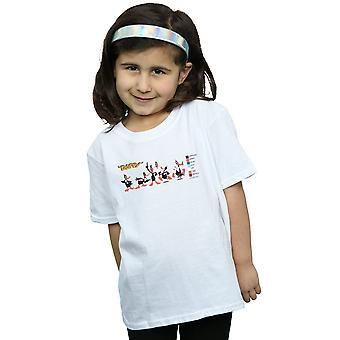 Looney Tunes T-Shirt für Mädchen Daffy Duck Farbe Code
