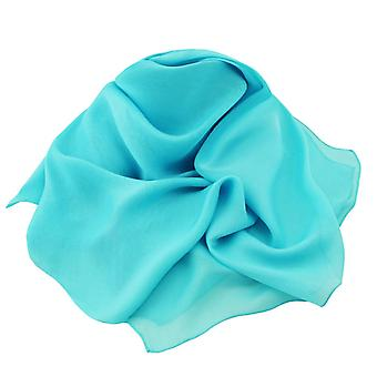 Éternelle Collection Plain Aqua oblongue Pure mousseline de soie foulard en soie