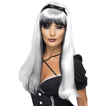 Witch wig of silver black Halloween witch wig witch wig