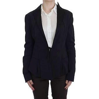Exte schwarz Stretch Single Breasted Blazer Jacke--SIG3645616
