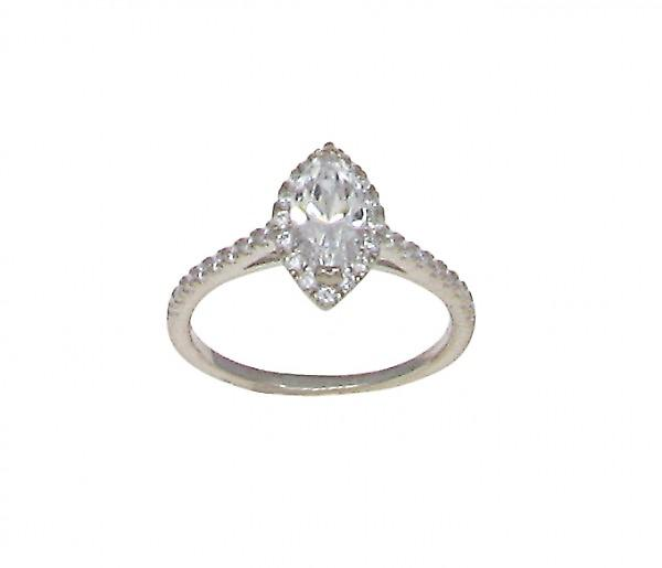 Cavendish Franse CZ Marquise Solitaire Ring