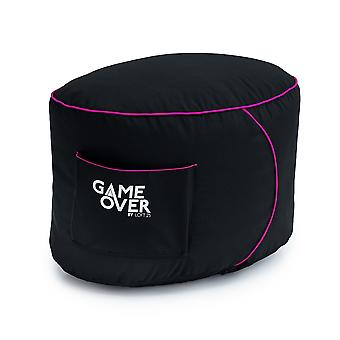GAME OVER Star Candy (Pink) Bean Bag Gaming Foothocker Pouffe