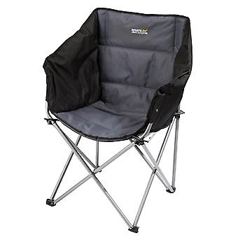 Regatta Navas Camping Chair with Storage Bag - Black/Seal Grey