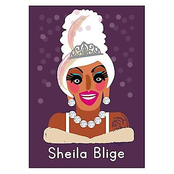 Attitude kleding Sheila Blige leven is een drag Card