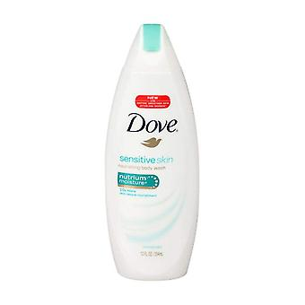 Dove sensitive skin beauty body wash, uncented, 12 oz