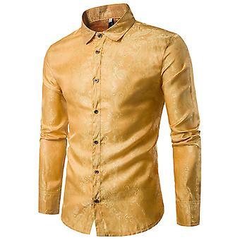 Allthemen's Long Sleeves Shirt Brodé Quatre Saisons Chemise à manches longues
