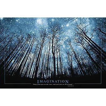 Poster - Studio B - Imagination (Stars & Trees) 36x24