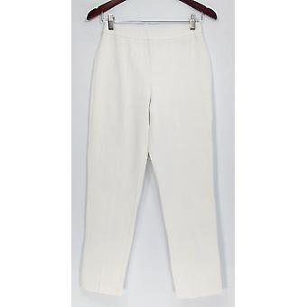 Joan Rivers Classics Collection Pants Signanture Ankle White A300856