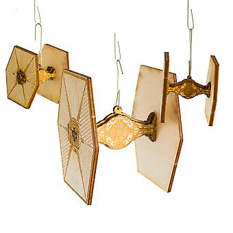 Crafts - fighter christmas ornament 3 pack - raw wood art kit