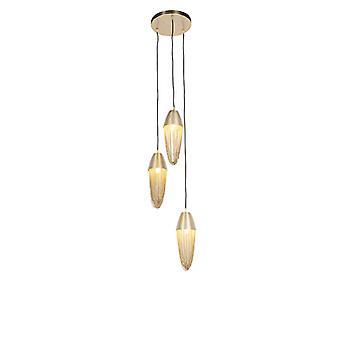 QAZQA Oriental hanging lamp gold 3-light - Catena