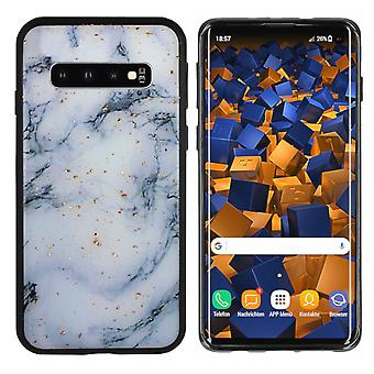 BackCover Marble Glitter voor Samsung S10 Plus Blauw
