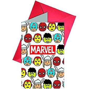 Avengers team power super hero party invitation cards 6 piece children birthday theme party
