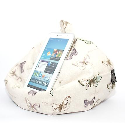 iBeani iPad, Tablet & eReader Bean Bag Stand / Cushion - Butterfly Chic