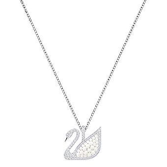 Swarovski Leaning Iconic Swan - White - Rhodio Plating
