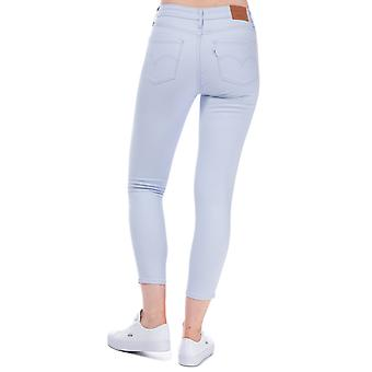 Womens Levi's 721 High Rise Skinny Ankle Jeans In Xenon Blue Soft Twill