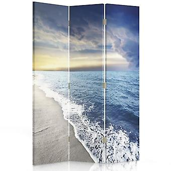 Room Divider, 3 Panels, Double-Sided, 360 ° Rotatable, Canvas, Coast