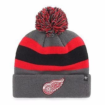 '47 Nhl Detroit Red Wings Charcoal Breakaway Cuff Knit