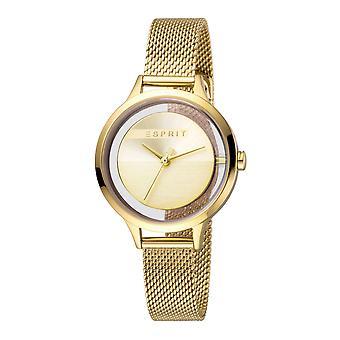 Esprit ES1L088M0025 Lucid Gold Mesh Women's Watch