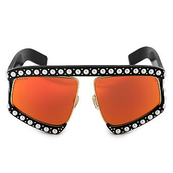 Gucci Oversized Mask Sunglasses GG0234S 002 63