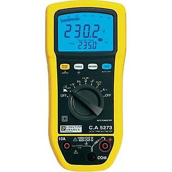 Handheld multimeter digital Chauvin Arnoux C.A 5273 Calibrated to: Manufacturer standards Splashproof (IP54) CAT III 100
