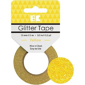Best Creation Glitter Tape 15mmX5m-Yellow GTS-011