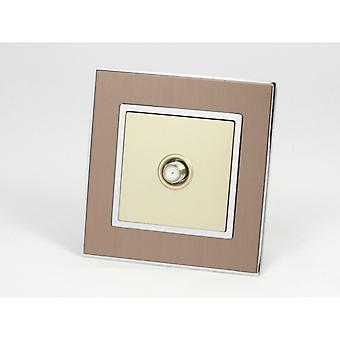 I LumoS AS Luxury Gold Satin Metal Single Satellite Socket