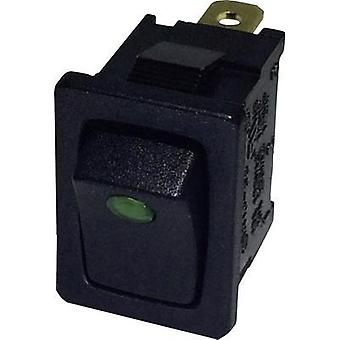 Toggle switch 250 Vac 6 A 1 x Off/On SCI R13-66B2-02 GREEN (250V/AC 150KR) latch 1 pc(s)
