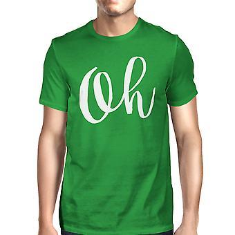 Oh Mans Kelly Green Tee carino manica corta t-shirt tipografiche