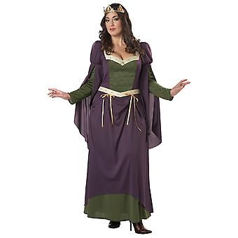 Lady In Waiting Nobel Renaissance Medieval Women Costume Plus