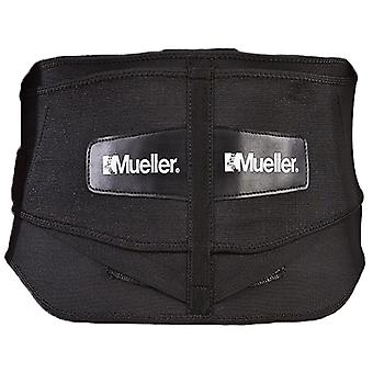 Mueller Plus Size Adjustable Back Brace w/Lumbar Pad - Black