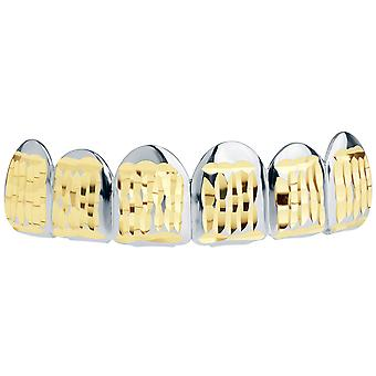 Silber Grillz - One size fits all - Diamond Cut ONE - Top